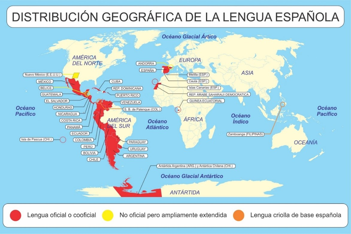 Geographical Distribution of the Spanish Language